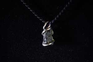 Moldavite Hand Wired Pendant (No.392)