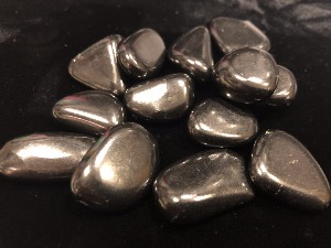Shungite - 2 cm Tumbled Stone - Weight  up to 4g to 6g