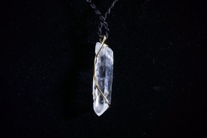 Quartz Point Hand Wired Pendant (No.106)