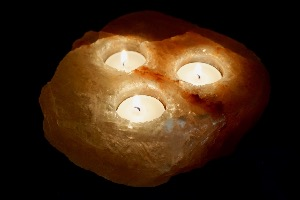Himalayan Salt Lamp Tripple T-Light (No.3)