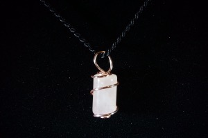 Rose Quartz Hand Wired Pendant (No.362)