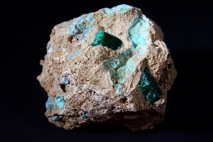 Dioptase In Matrix, from Namibia (No.40)
