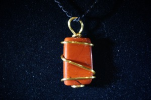 Red Jasper Hand Wired Pendant (No.746)