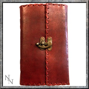 Leather Journal with locking clip - Nemesis Now