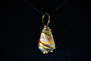 Bumble Bee Jasper Hand Wired Pendant (No.743)