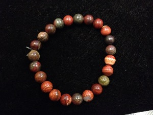 Jasper - Snakeskin - 8mm Round Beads - Elasticated Bracelet