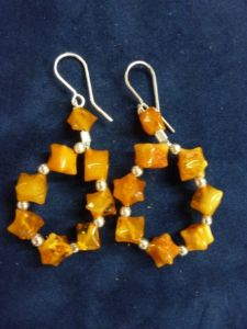 Milky Amber - Sterling Silver Hook -  Loop Earrings