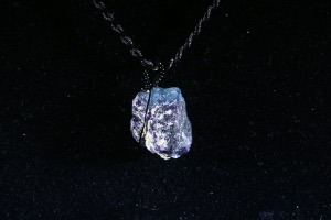 Indigo Fluorite Hand Wired Pendant (No.119)