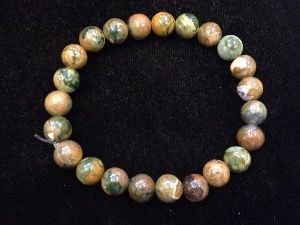 Rhyolite  - 8mm Round Beads - Elasticated Bracelet