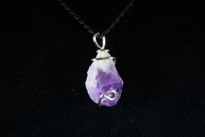 Bahia Amethyst Hand Wired Pendant (No.402)