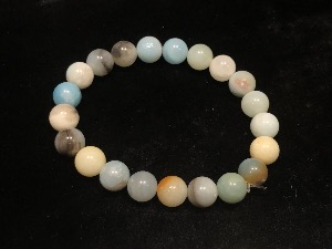 Amazonite 8mm Beads, Elasticated Bracelet 15cm small (Ref121104)