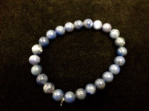 Aventurine - Blue - 8mm Round Beads - Elasticated Bracelet