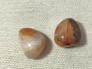 Agate - Banded - Madagascan - 2 to 2.5cm Tumbled Stone (Selected)
