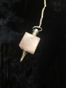 Rose Quartz Cube Pendulum