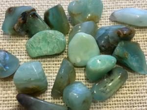 Chrysoprase - 1 to 2cm Light Tumbled Stone