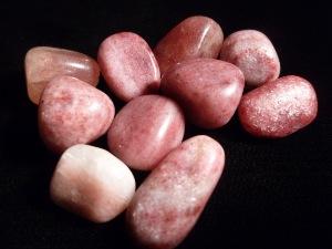 Thulite Dark Tumble Stone