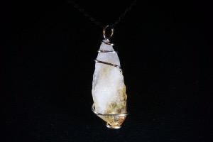 Citrine Hand Wired Pendant (No.333)