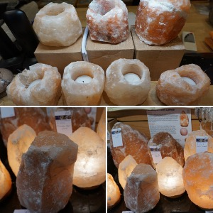 Crystal Electric lamps & T-Light holders