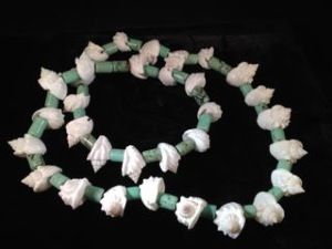 Turquoise Howlite and Shells Necklace