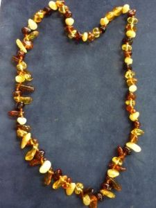 Mixed Colours of Amber - Tumbled Amber Necklace