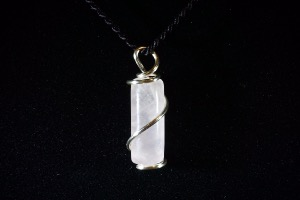 Rose Quartz Hand Wired Pendant (No.358)