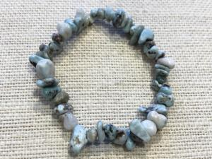 Larimar - Gemstone Chip Bead Bracelet (Selected)
