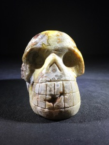 Crazy Lace Agate Skull (No.84)
