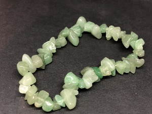 Aventurine - Green Gemstone chip bead bracelet