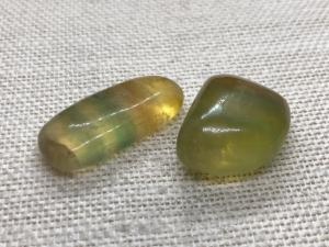 Fluorite - Yellow Rainbow - 2 to 3cm Tumbled Stone