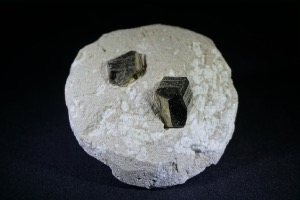 Pyrite On Matrix, Ambas Agues, La Rioja, Spain (No.51)