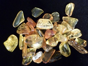 Amber - Baltic - Golden Colour - Tumbled (Tiny)