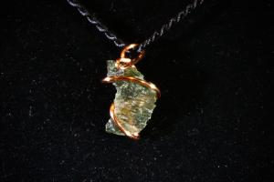 Moldavite, Hand Wired Pendant (No.188)