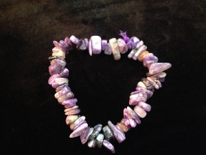 Charoite - Chip Beads - Elasticated Bracelet