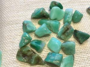 Chrysoprase - 1 to 2cm Dark Tumbled Stone