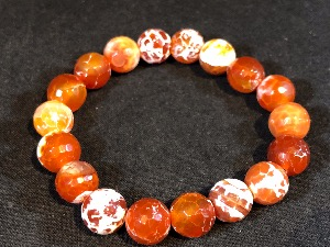 Agate - Fire Agate Elasticated Bracelet (1)