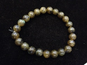 Labradorite - 8mm Round Beads - Elasticated Bracelet