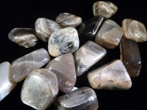 Moonstone - Black - Tumbled Stone (Selected)