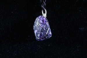Purple Fluorite Hand Wired Pendant (No.110)