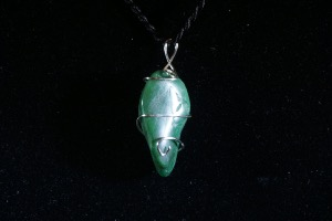 Buddstone African Jade Hand Wired Pendant (No.94)