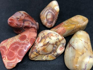 Jasper - Birds Eye - 2cm Tumbled Stone.