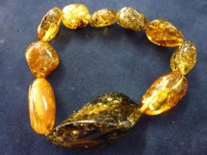 Green Amber with Mixed shades of Amber Bracelet