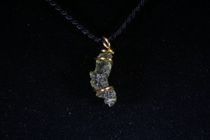 Moldavite Hand Wired Pendant (No.403)