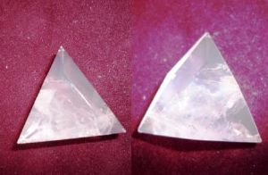 Amethyst crafted triangle