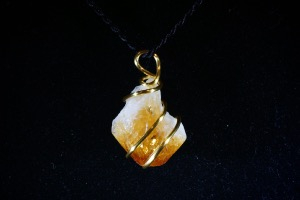 Citrine Hand Wired Pendant (No.740)