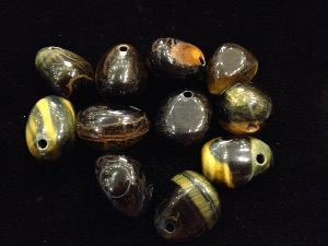 Drilled - Blue Tiger Eye - Tumbled stone