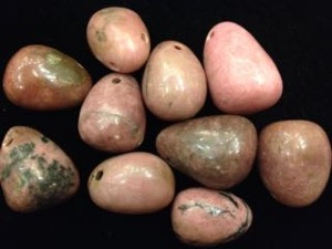 Drilled - Rhodonite - Tumbled stone