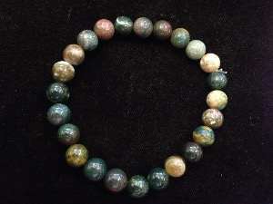 Jasper - Fancy - 8mm Round Beads - Elasticated Bracelet
