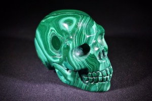 Malachite Skull, from Haut-Kantanga, Democratic Republic of Congo (No.11)