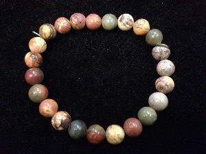 Jasper - Creek - 8mm Round Beads - Elasticated Bracelet