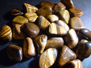 Tiger Eye - Golden - Golden Tumbled Stone